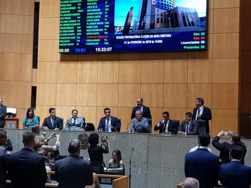 Eleição da Mesa Diretora da Assembleia Legislativa. Crédito: Letícia Gonçalves
