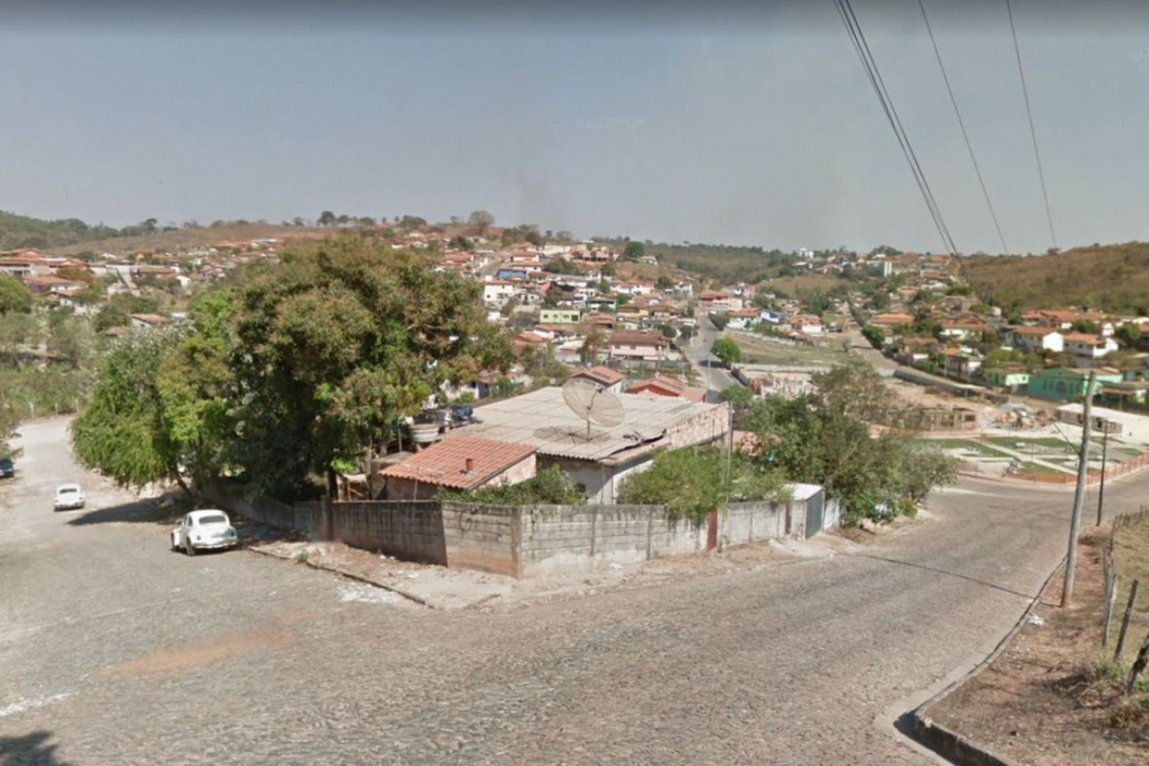 Brumadinho, em Minas Gerais. Crédito: Reprodução   Google Maps