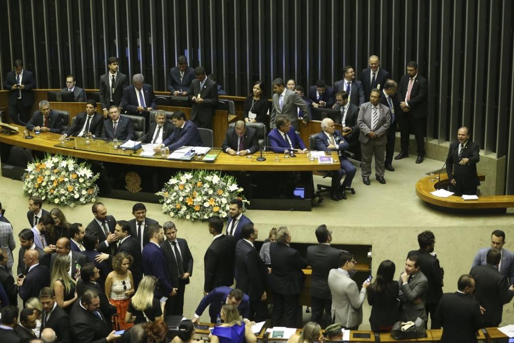 Sessão de votação para presidente da Câmara dos Deputados. Crédito: Valter Campanato/Agência Brasil