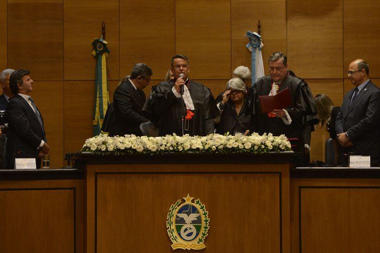 Posse do presidente do Tribunal de Justiça do Rio de Janeiro, Claudio de Mello Tavares . Crédito: Tânia Rêgo/Agência Brasil