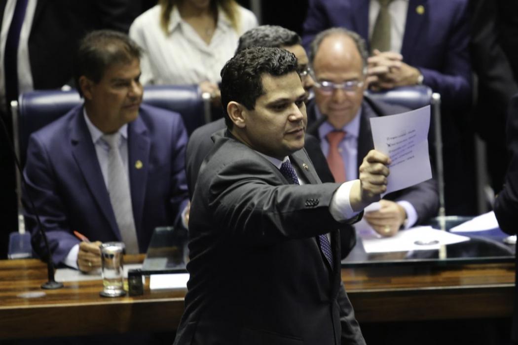Davi Alcolumbre (DEM-AP), presidente do Senado. Crédito: Fabio Rodrigues Pozzebom/ Agência Brasil