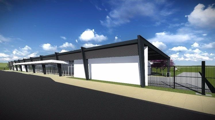 Projeção de terminal aeroportuário no modelo M2, que será o construído em Linhares. Crédito: Reprodução