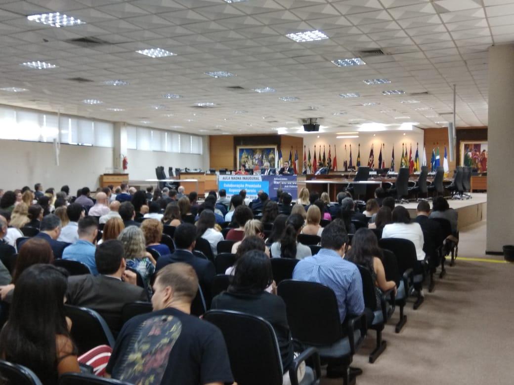 Bretas participa de aula magna inaugural da Escola Superior de Magistratura do Espírito Santo. Crédito: Vinícius Valfré
