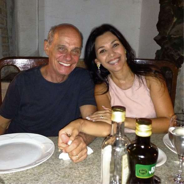 Ricardo Boechat e Veruska Seibel em 2013. Crédito: Cedoc   A Gazeta