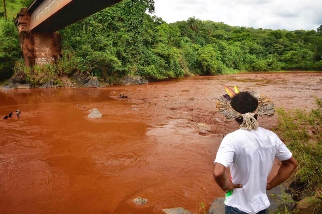 Contaminação dos rios por conta da tragédia de Brumadinho. Crédito: Lucas Hallel/Ascom Funai
