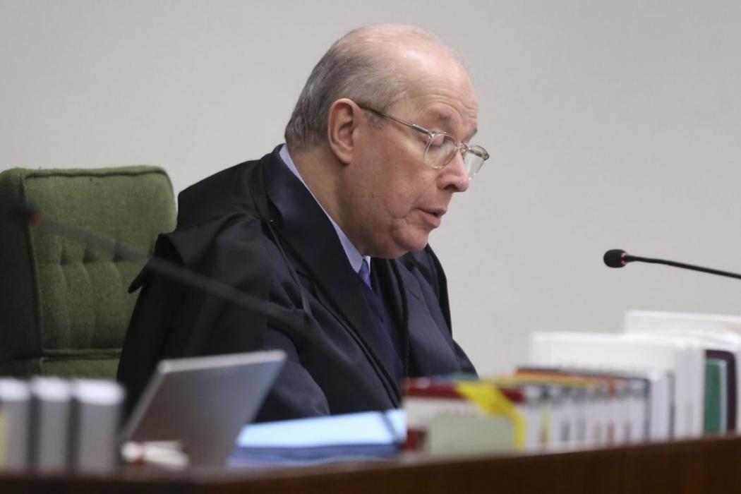 Ministro da Segunda Turma do STF Celso de Mello durante julgamento de ação penal. Crédito: Valter Campanato/Agência Brasil