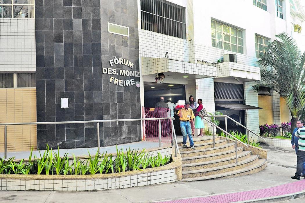 Fórum em Vitória onde aconteceu audiência em que preso participou. Plano era libertá-lo na ocasião. Crédito: Vitor Jubini