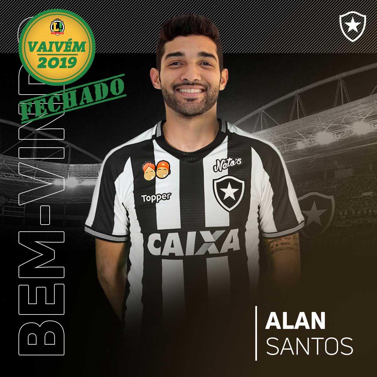 b8a488c97f Botafogo anuncia o terceiro reforço para 2019  Alan Santos - Lance ...